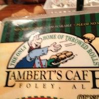 Photo taken at Lambert's Cafe by Rosi L. on 10/17/2012