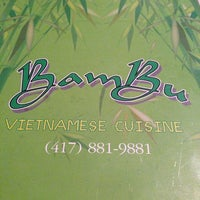 Photo taken at Bambu Vietnamese Restaurant by Stephanie G. on 1/13/2013