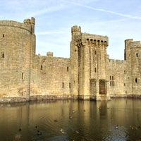 Photo taken at Bodiam Castle by Stephen M. on 1/26/2013