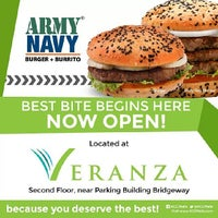 Photo taken at Army Navy Burger + Burrito by Alexis C. on 10/25/2013