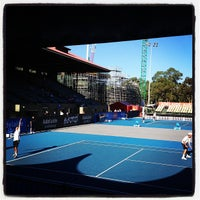 Photo taken at Memorial Drive Tennis Centre by Lachlan C. on 1/7/2013