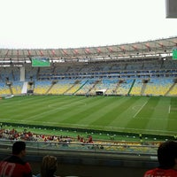 Photo taken at Mário Filho (Maracanã) Stadium by Marcela O. on 9/29/2013