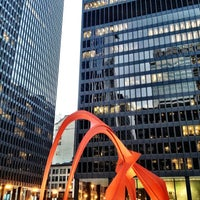 Photo taken at Alexander Calder's Flamingo Sculpture by amy f. on 3/22/2013
