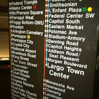 Photo taken at Federal Triangle Metro Station by Ebony on 12/2/2012