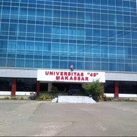 """Photo taken at Universitas Bosowa """"45"""" Makassar by Rini on 8/4/2013"""