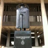Photo taken at Saint Damien of Molokaʻi Statue by E on 4/8/2013