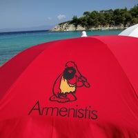 Photo taken at Armenistis Beach by Aneta G. on 8/30/2016
