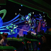 Photo taken at Buzz Lightyear's Space Ranger Spin by Swen G. on 3/18/2013