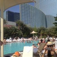 Photo taken at ARIA Pool & Cabanas by Alexia F. on 5/4/2013