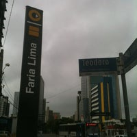 Photo taken at Estação Faria Lima (Metrô) by Jorge C. on 1/27/2013