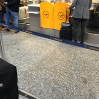 Photo taken at Lufthansa Check-in by Sean B. on 1/6/2013