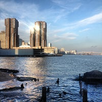 Photo taken at Stuyvesant Cove Park by Charlie O. on 11/23/2012