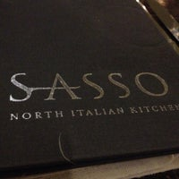 Photo taken at Sasso by Sami E. on 11/27/2012