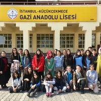 Photo taken at Gazi Anadolu Lisesi by Merve D. on 3/2/2017