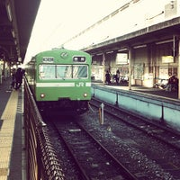 Photo taken at JR 京都駅 8-9-10番ホーム by sayawen on 12/20/2012