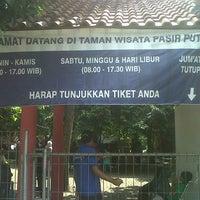 Photo taken at Taman Wisata Pasir Putih Sawangan by Ryan A. on 4/20/2013