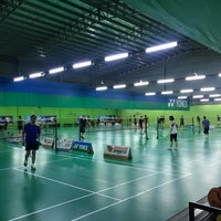 Photo taken at Champion Badminton Court by PYeong on 5/6/2018