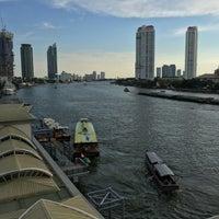 Photo taken at King Taksin Bridge by Jon W. on 4/9/2017