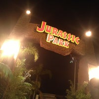 Photo taken at Jurassic Park: The Ride by Chris L. on 2/17/2013