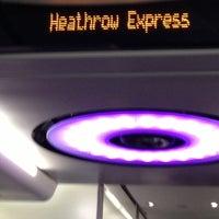 Photo taken at Heathrow Express Train - Paddington [PAD] to Heathrow [HXX] by Dawn M. on 1/25/2013