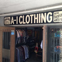 Photo taken at A-1 CLOTHING by ICHI-LOW on 8/31/2013