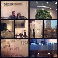 Photo taken at Distrikt Hotel New York City by Joy M. on 3/25/2013