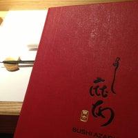 Photo taken at Sushi Azabu by Morgan W. on 6/27/2013