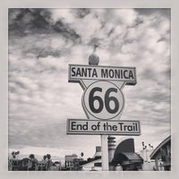 """Photo taken at Santa Monica Route 66 """"End of the Trail"""" by Tim S. on 2/2/2013"""
