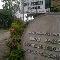 Photo taken at SMPN 1 CILEUNGSI by Endis G. on 3/12/2013