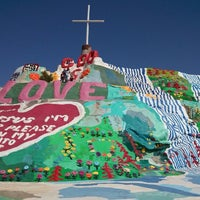 Photo taken at Salvation Mountain by Gregory L. on 3/23/2013