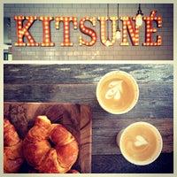 Photo taken at Kitsuné Espresso Bar Artisanal by Mayssam S. on 6/15/2013