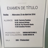 Photo taken at Facultad de Psicología UDP by Francisca G. on 4/23/2014