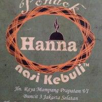 """รูปภาพถ่ายที่ Pondok Nasi Kebuli """"Ibu Hanna"""" โดย Rapunzel เมื่อ 6/7/2016"""
