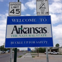 Photo taken at Oklahoma - Arkansas Border by Mike S. on 5/10/2013