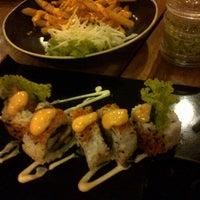Photo taken at Sushi Miya8i by hesti a. on 6/1/2014
