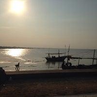 Photo taken at Pantai Boom Tuban by Edo H. on 8/18/2013
