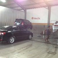 Photo taken at Pilar Tidar Car Wash by Pitra Dwi Y. on 12/15/2013