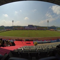 Photo taken at Stadion Kanjuruhan by Pitra Dwi Y. on 8/17/2016