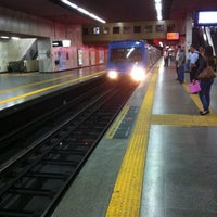 Photo taken at MetrôRio - Estação Carioca by Murillo N. on 8/20/2012