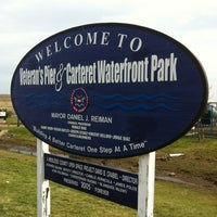 Photo taken at Carteret Waterfront Park by Dr. Randy C. on 4/15/2012