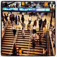 Photo taken at Rajiv Chowk | राजीव चौक Metro Station by Ulises C. on 10/18/2012