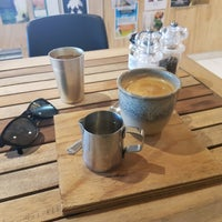 Photo taken at BEANd Coffee Roastery by Ali M. on 4/27/2017