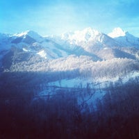 Photo taken at Rosa Khutor Ski Resort by Konstantin B. on 2/3/2013