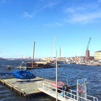 Photo taken at Riddarfjärden by Sandra S. on 3/21/2014