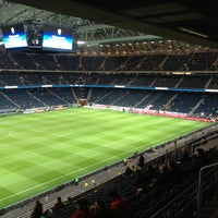 Photo taken at Friends Arena by Joel K. on 11/14/2012