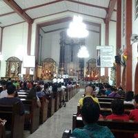 Photo taken at Sta. Clara de Montefalco Parish Church by Gina A. on 12/24/2013