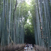 Photo taken at Arashiyama Bamboo Grove by Ryuichi K. on 6/15/2013
