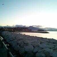 Photo taken at Lungomare di Napoli by Mario P. on 12/20/2012