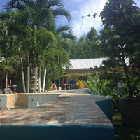 Photo taken at deep forest garden inn poolside by Andrew A. on 7/12/2016