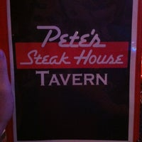 Photo taken at Pete's Steak House by Gregory F. on 1/5/2013